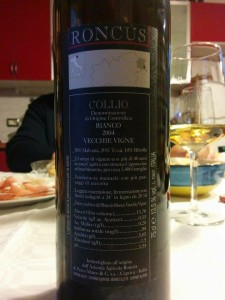 Roncus Vecchie Vigne 2004