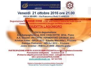 Locandina Serata Orange Arezzo