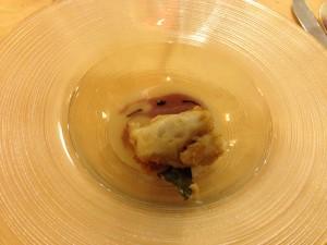 Zuppa acida di cipolle e baccalà