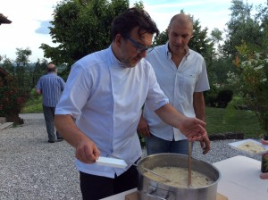 Il risotto di Alessandro Gavagna-Chef de La Subida